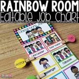 Classroom Jobs Editable Rainbow Job Chart