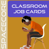 Space Themed Classroom Jobs Editable