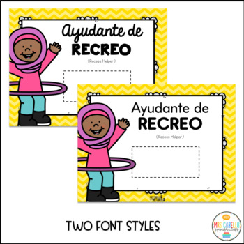 Classroom Jobs Editable and labeled in Spanish