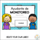 Classroom Jobs Editable and labeled in Spanish - Trabajos de Clase
