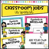 Classroom Jobs labeled in Spanish - Trabajos de Clase