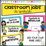 Classroom Jobs Editable and labeled in Spanish - Trabajos