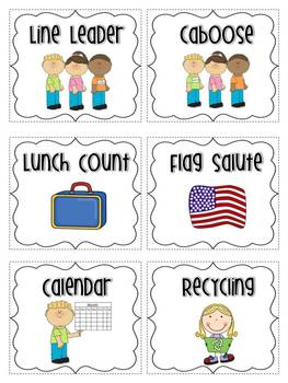 photo about Free Printable Preschool Job Chart Pictures referred to as Clroom Work opportunities Cost-free