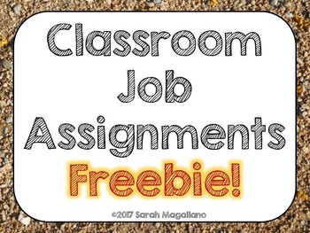 Classroom Jobs FREEBIE!!! (with Editable Blank Page)