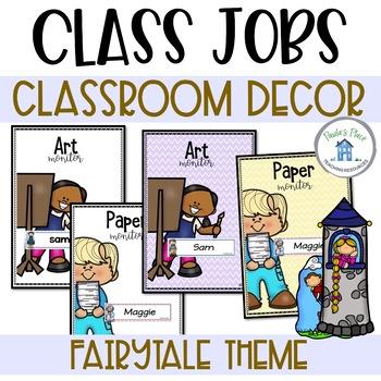 Classroom Jobs Fairy Tale Theme