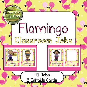 Classroom Jobs Flamingo Theme