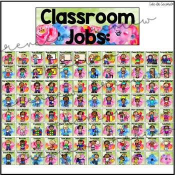 Classroom Jobs Flower Garden Theme