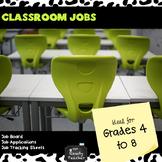 Classroom Jobs For Middle School *EDITABLE*