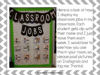 Classroom Jobs Freebie