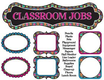 Classroom Jobs - Fun Theme (Classroom Management)