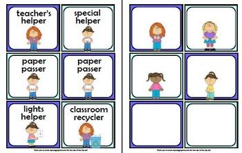 Classroom Jobs: Girls & Boys