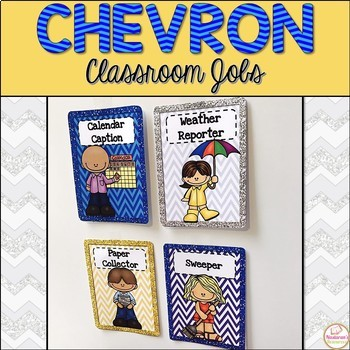 Classroom Jobs {Glitter and Chevron}
