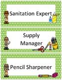 Classroom Jobs~ Green Polka Dot Detective