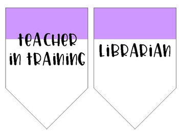 Classroom Jobs Hanging Banners {Empty templates included}