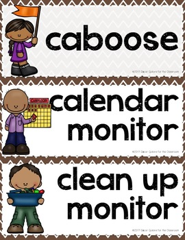 Classroom Jobs - Happy Campers Decor