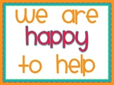 Classroom Jobs: Happy to Help