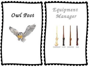 Classroom Jobs {Harry Potter Themed}