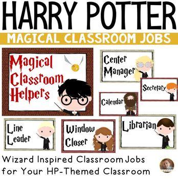 Classroom Jobs- Harry Potter Themed Bulletin Board Set