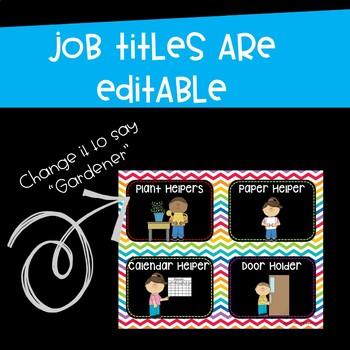 Classroom Jobs Helpers Chart