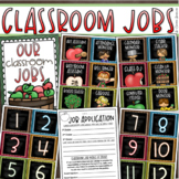 Classroom Jobs Helpers Chart Labels Signs Apple Theme EDITABLE