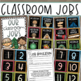 Classroom Jobs Helpers Chart Labels Signs Camping Camp Out Theme EDITABLE