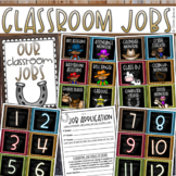 Classroom Jobs Helpers Chart Labels Signs Country Western Cowboy Theme EDITABLE