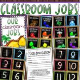 Classroom Jobs Helpers Chart Labels Signs Dinosaur Dino Theme EDITABLE