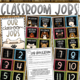 Classroom Jobs Helpers Chart Labels Signs Dog Theme EDITABLE