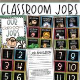 Classroom Jobs Helpers Chart Labels Signs Jungle Safari Theme EDITABLE