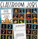Classroom Jobs Helpers Chart Labels Signs Ocean Under the Sea Theme EDITABLE