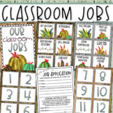 Classroom Jobs Helpers Chart Labels Signs Rustic Farmhouse Shabby Chic EDITABLE
