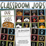 Classroom Jobs Helpers Chart Labels Signs Sports Teamwork Theme EDITABLE