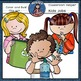 Classroom Jobs / Helpers kids clip art SET 1 -Color and B&W-