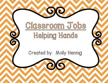 Classroom Jobs- Helping Hands (Editable)