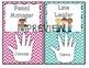 Classroom Jobs- Helping Hands (Editable)