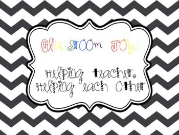 Classroom Jobs: Helping teacher, helping each other