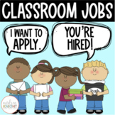 Classroom Jobs {Job Cards, Applications, & Interview Questions} K-3