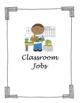 Classroom Jobs Labels
