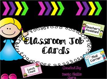 Classroom Jobs! Labels, labels, and more labels!