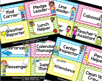 Classroom Jobs! Labels, labels, and more labels!