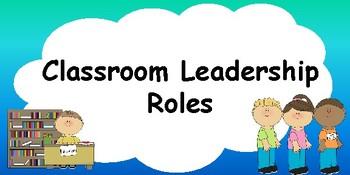 Classroom Jobs/ Leadership Roles