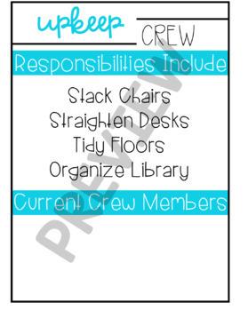 Classroom Jobs (Leadership Team Roles) - Tropical Colors Edition