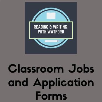 Classroom Jobs List and Application