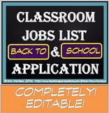 Classroom Jobs List and Applications (EDITABLE!)