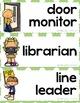 Classroom Jobs - Little Monsters Decor