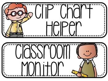 Classroom Jobs - Melonheadz Rounded Rectangles