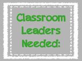 Classroom Jobs - Middle School