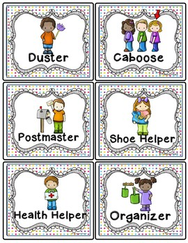 Classroom Jobs - Mini Dots