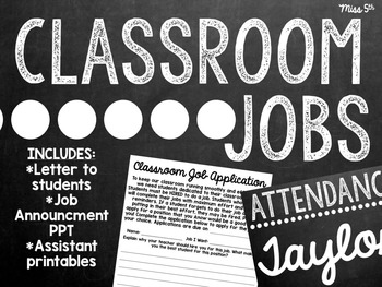 Classroom Jobs Mini-Pack