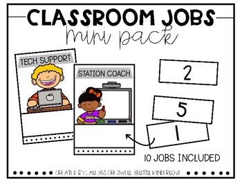 Classroom Jobs Mini-Pack
